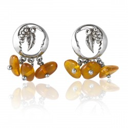 Boucles ambre et argent 925