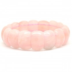 Bracelet de Pierre, rectangle de Quartz rose