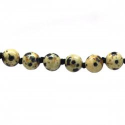 Collier Pierre, perles 8 mm, Jaspe dalmatien