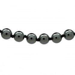 Collier Pierre, perles 8 mm, Hématite