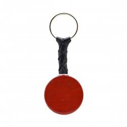Porte-clés Pierre, disque de Jaspe rouge