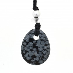 Obsidienne mouchetée, Collier Joy
