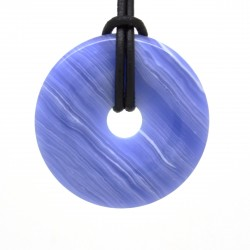 Agate blue lace, donuts pierre 40 mm