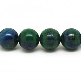 Bracelet perles 12 mm, Lapis Chrysocolle