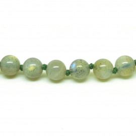 Collier Pierre, perles 8 mm, Labradorite