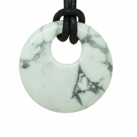 Donuts cercle en Howlite blanche