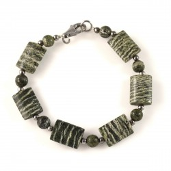Bracelet Pierre Chrysolite Serpentine