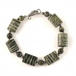Bracelet jaspe vert