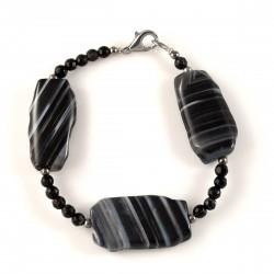 Bracelet agate noire