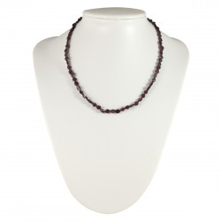 Collier Pierre losanges de Grenat Rouge