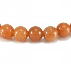 Bracelet Aventurine rouge, perles 8 mm