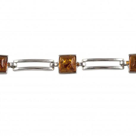 Bracelet ambre carré