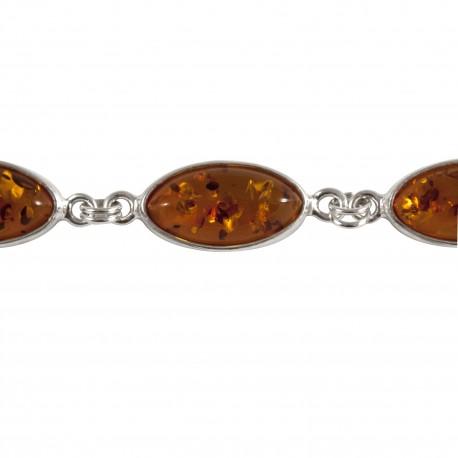 Bracelet ambre ovale