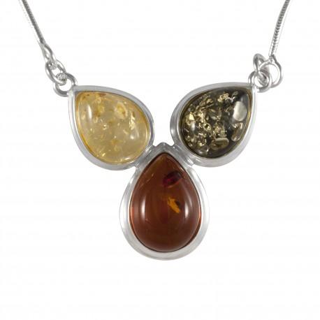 Collier trois ambre