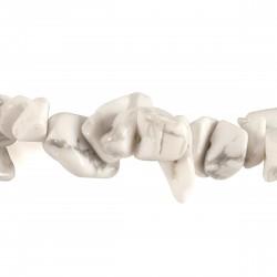 Collier Pierre baroque Howlite Blanche, 45 cm
