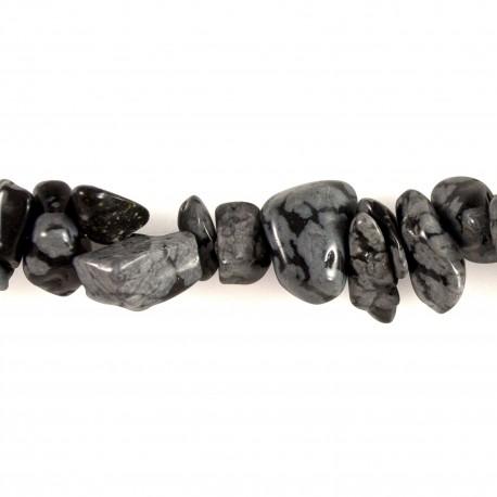 Collier baroque Obsidienne Mouchetée