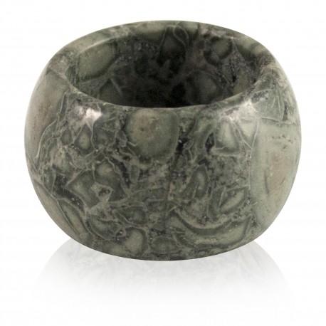 Bague anneau jaspe vert