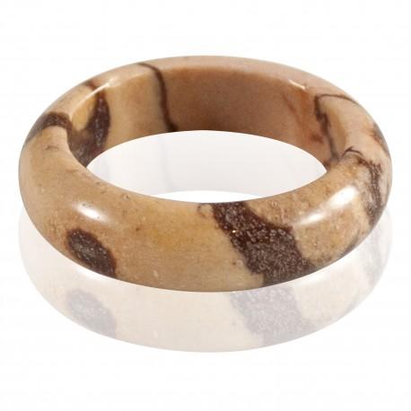 Bague pierre jaspe mookaite T56, 57, 58, 60