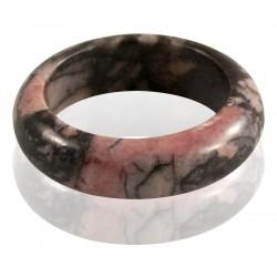Bague pierre rhodonite