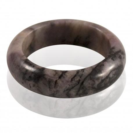 Bague pierre rhodonite pâle