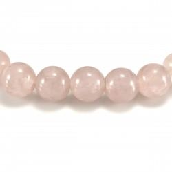 Bracelet Pierre, perles de Quartz Rose
