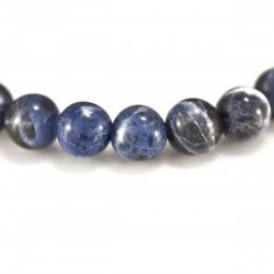 Bracelet Sodalite, perles 8 mm