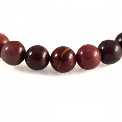 Bracelet Jaspe Mookaite, perles 8 mm