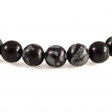 Bracelet Pierre, perles d'Obsidienne