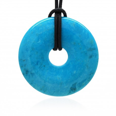 Turquoise, Donuts rond de Pierre 40 mm