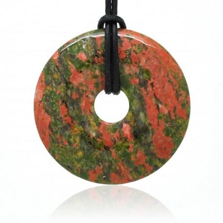 Unakite, Donuts rond de Pierre 40 mm