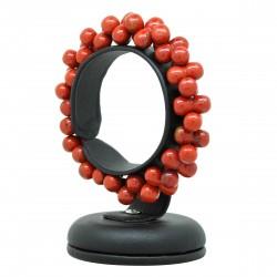 Bracelet Jaspe rouge, perles ADN