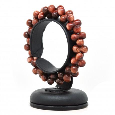 Bracelet ADN, perles Pierre de soleil