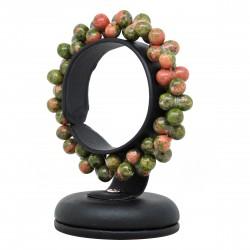 Perles d'Unakite, Bracelet ADN Pierre