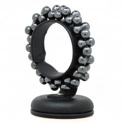 Bracelet Hématite, perles ADN