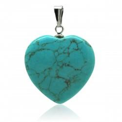 Pendentif Pierre, cœur de Turquoise