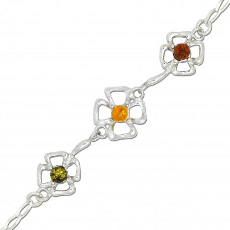 Lynda, Bracelet d'Ambre et Argent