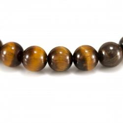 Bracelet œil de Tigre, perles 8 mm