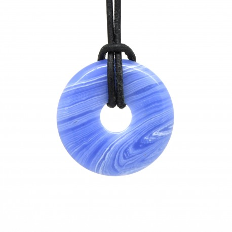 Donuts en Pierre, Agate blue lace 30 mm