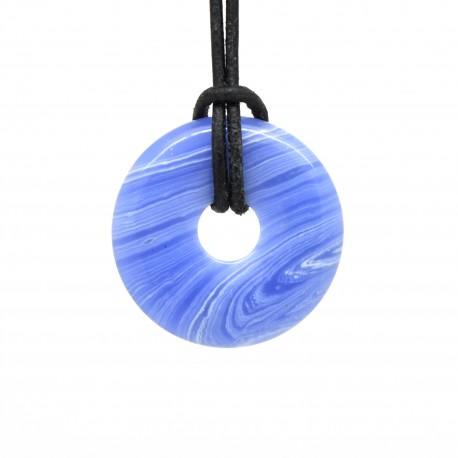 Donuts en Pierre, Agate blue lace 30 mm