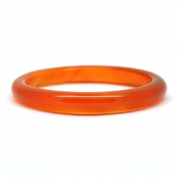Bague Pierre fine, Agate orange