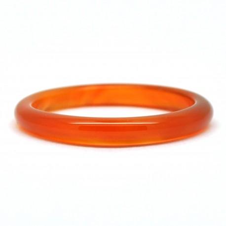 Bague Pierre fine, Agate orange