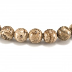 Bracelet Pierre, perles de Jaspe paysage
