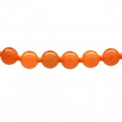 Collier Pierre, perles 8 mm, Aventurine rouge