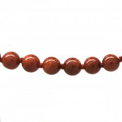 Collier Pierre, perles 8 mm, Pierre de soleil