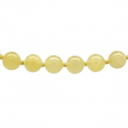 Collier Pierre, perles 8 mm, Calcite jaune