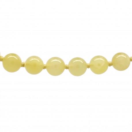 Collier Pierre, perles 8 mm, Calcite jaune