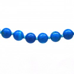 Collier Pierre, perles 8 mm, Turquoise