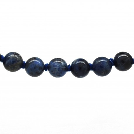 Collier Pierre, perles 8 mm, Sodalite