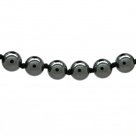 Collier Pierre, perles 8 mm, Hématite