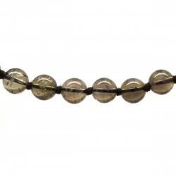 Collier Pierre, perles 8 mm, Quartz fumé